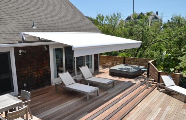 Roof-Mounted Retractable Deck Awning