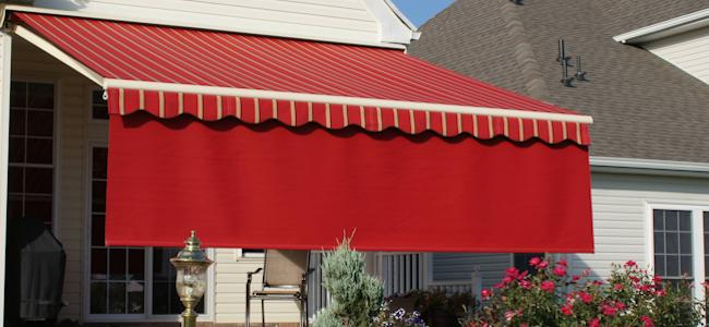 Retractable Patio Awning with Drop Valance